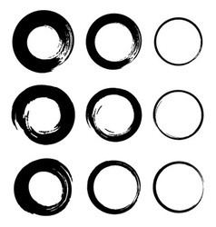 Set of Grunge Circle Stains vector image