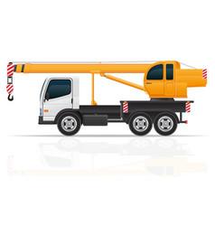 Truck crane vector