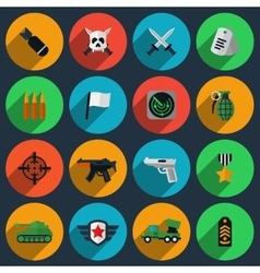 Army and war icons vector image vector image