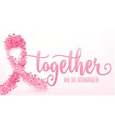 breast cancer ribbon vector image vector image