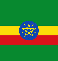 flag in colors of ethiopia image vector image vector image