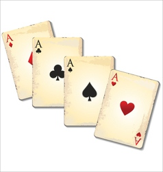 Old playing cards vector