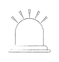 red light alarm vector image