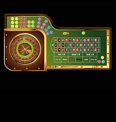 roulette table vector image