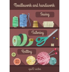 Set of tools and materials vector image vector image