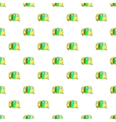 Yellow trailer pattern cartoon style vector image