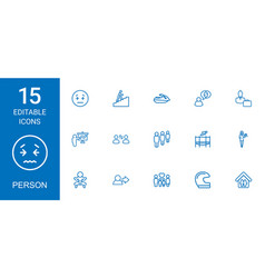 15 person icons vector image