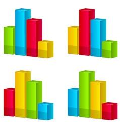 3d shiny graphs vector