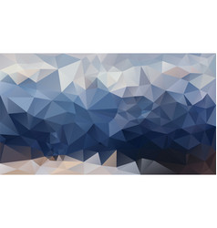 Abstract irregular polygonal background dark sky vector