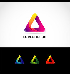 abstract triangle logo symbol sign icon vector image