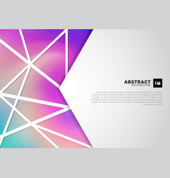 abstract white geometric with lattice lines vector image