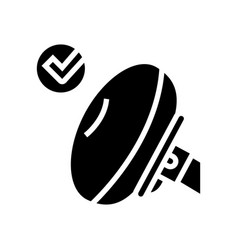 Airbag testing car glyph icon vector