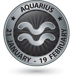 Aquarius zodiac silver sign virgo symbol vector