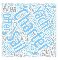 Areas To Visit On Mediterranean Yacht Charters vector image