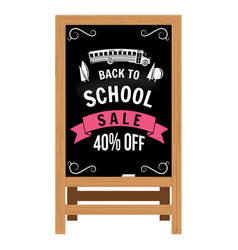 back to school design wooden announcement board vector image