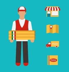 Banner with Pizza Delivery Perfect Service vector