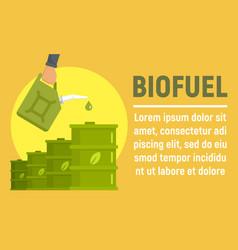 biofuel barrel concept banner flat style vector image