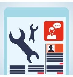 Blogging design social media icon Isolated vector