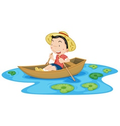 Boating vector image