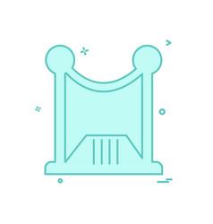Boundary wall icon design vector
