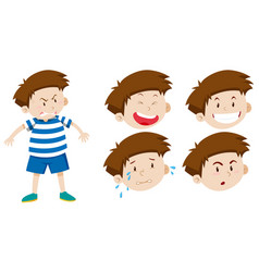 boy character with facial expression vector image