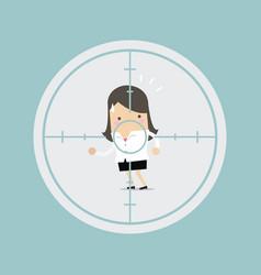 Businesswoman in crosshairs vector