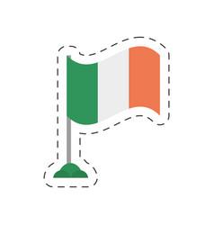 cartoon irish flag st patricks day vector image