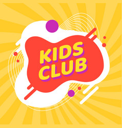 child party or kids club funny background vector image