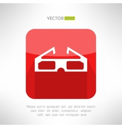 Cinema 3d glasses icon in modern clean and simple vector image