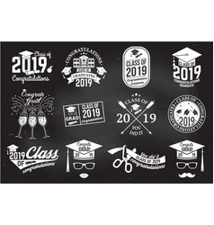 Class 2019 badge concept for shirt vector