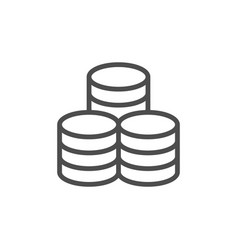 coins icon and money concept vector image