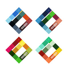 Colorful stripes infographic templates set vector