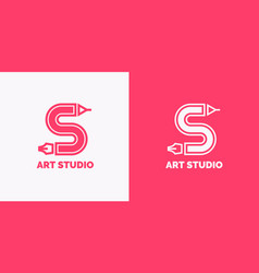 conceptual label and emblem art studio vector image