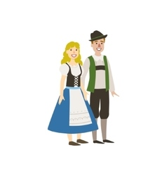 Couple In German National Clothes vector
