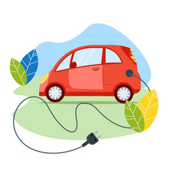 Ecology friendly electric car modern transport vector