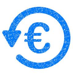Euro rebate grunge icon vector