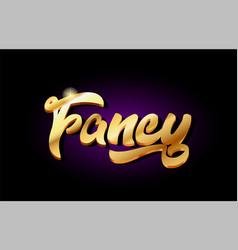Fancy 3d gold golden text metal logo icon design vector