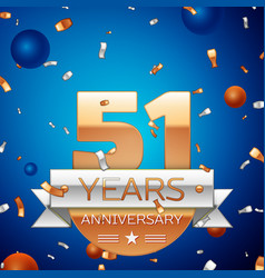 Fifty one years anniversary celebration design vector