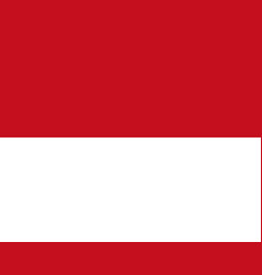 flag of monaco flag with official colors vector image