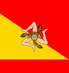 Flag of sicily italy vector