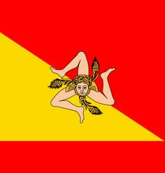 Flag sicily italy vector