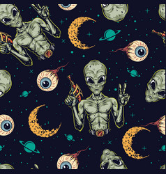 Halloween colorful vintage seamless pattern vector