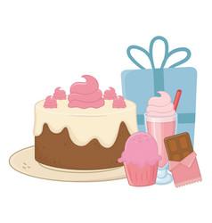 Happy birthday surprise design vector