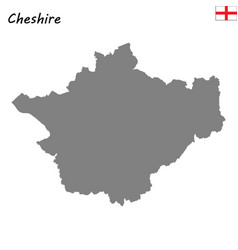 high quality map is a ceremonial county of england vector image