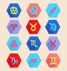 Horoscope icon set vector