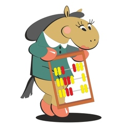 Horse keeps score 008 vector image