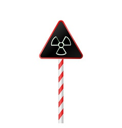 Illustration the warning symbol of radioactive haz vector