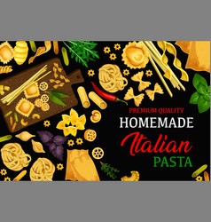 Italian homemade pasta menu vector