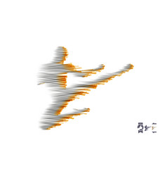 kickbox fighter preparing to execute a high kick vector image