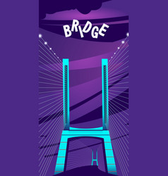 large night bridge vector image